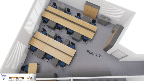 Wizualizacja biura w Łodzi – przykład
