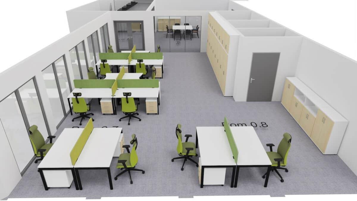 Wizualizacja biura firma z Łodzi – przykład