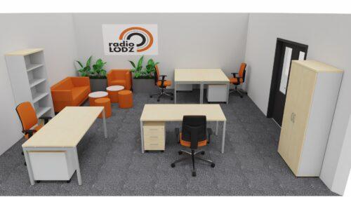 Wizualizacja biura radio Łódź – przykład