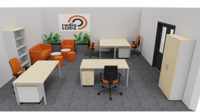 Wizualizacja biura radio Łódź - przykład