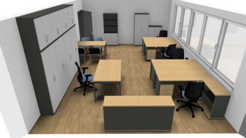 Wizualizacja biura w Ksawerowie – przykład